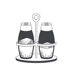 salt and pepper containers black silhouette and vector image