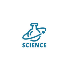 science logo icon chemical flask medicine drugs vector image