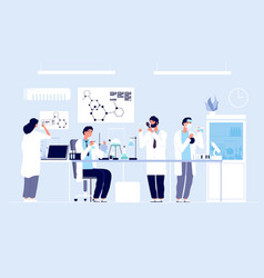 scientists in lab people in white coat chemical vector image