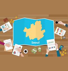 Seoul south korea asia capital city region vector