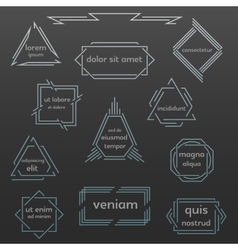 Set of geometric vintage labels logos icons vector image