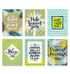 Summer vacation posters or greeting card vector