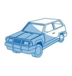 Suv car cartoon modern vehicle transport vector
