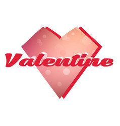 Valentine day polygon heart image vector