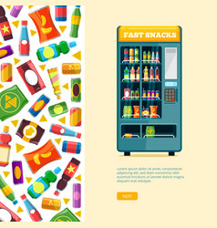 vending machine automatic sale of snack unhealthy vector image