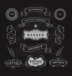 vintage banner antique label hand drawn vector image