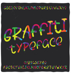 vintage label typeface named graffiti vector image