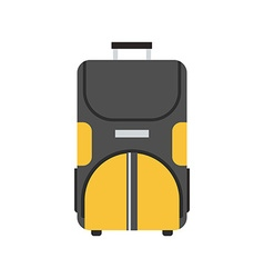 Wheel Travel Bag Icon vector image