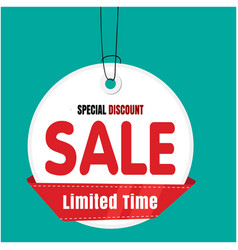 white tag sale sale limited time special discount vector image