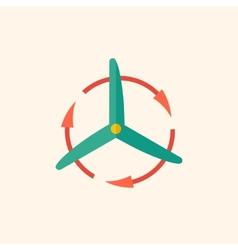 Wind Energy Flat Icon vector