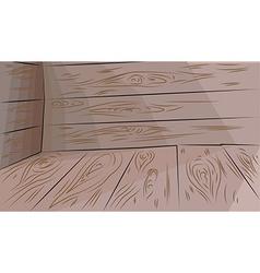 Wooden floor and walls vector