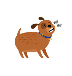 woof woof cute puppy dog vector image