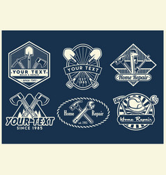 work tools badge design collection vector image