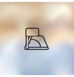 Angle icon on blurred background vector