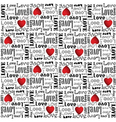alentine pattern with black color love text vector image vector image