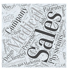 Medical supply sales careers word cloud concept vector