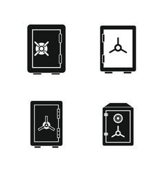 safe icon set simple style vector image