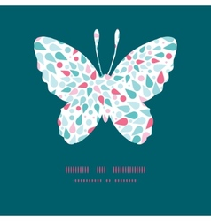 abstract colorful drops butterfly vector image