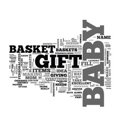 Baby shower gift baskets tips and ideas text word vector