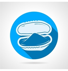 Bivalve oyster flat round icon vector image vector image