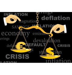 Crisis vector image vector image