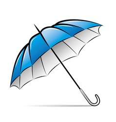 drawing umbrella on white background vector image