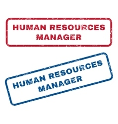 Human resources manager rubber stamps vector