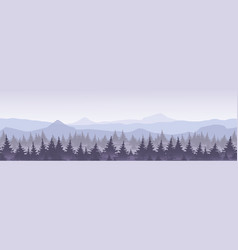 mountains with forest in vector image vector image