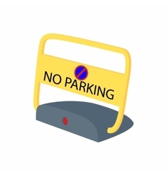 Sign no parking icon cartoon style vector image
