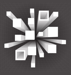 abstract geometric square extension movement vector image vector image