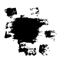 black blob and spots vector image vector image