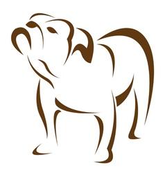 dog bulldog vector image