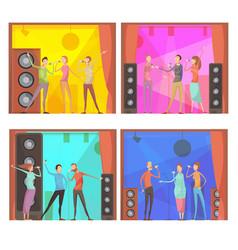 karaoke party compositions set vector image