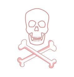 medical skull bones crossed human danger concept vector image vector image