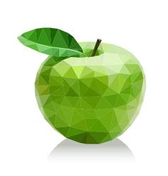 Polygon green apple vector image vector image