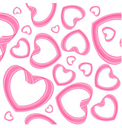 seamless heart pattern on white background vector image vector image