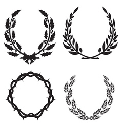 wreath pack3 vector image vector image