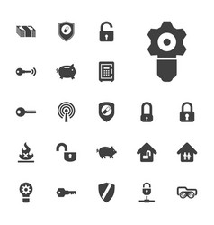 22 safe icons vector image
