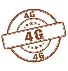 4g brown grunge stamp vector