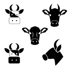 Abstract cows head vector