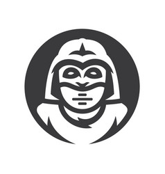 alien warrior silhouette sign vector image