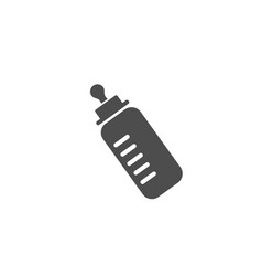 baby bottle silhouette with a scale and a nipple vector image