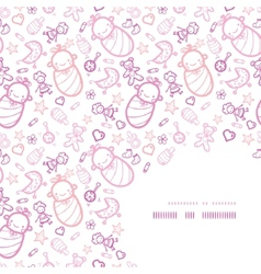 Bagirls corner frame pattern background vector
