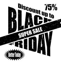 Black Friday banner template design vector image