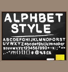 blackboard alphabet vector image
