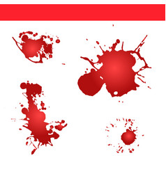 Blood splatter paint splash vector