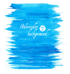 blue abstract hand drawn watercolor vector image