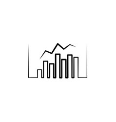 business chart logo statistic icon design element vector image