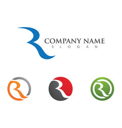business corporate r letter logo design vector image