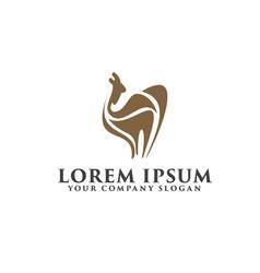 camel logo design concept template vector image